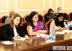 "Administration of FEZ ""Vitebsk"" Attended the Meeting with Sangeeta Bahadur, Ambassador Extraordinary and Plenipotentiary of India to the Republic of Belarus"