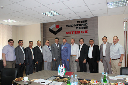 "A Delegation From Namangan Region (Uzbekistan) Visits the Administration of FEZ ""Vitebsk"""